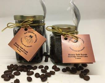 Sturbridge Almond Coffee Honey Salt Scrub, Coffee Salt Scrub, Almond Coffee Salt Scrub, Bee Mindful Honey Salt Scrub, Honey Body Scrubs