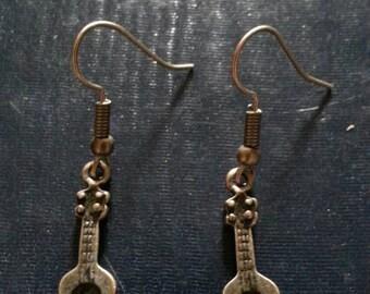 Bronze Acoustic Guitar Earrings