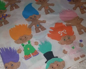 1992 Treasure Trolls Curtain Panel