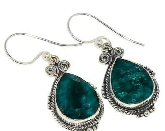 """Zambian Mines Emerald 925 Sterling Silver Earring 1.77"""""""