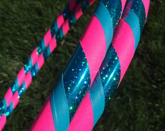 Aqua Dream Dance & Exercise Hula Hoop COLLAPSIBLE or Push Button teal pink