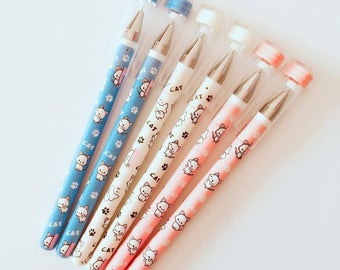 Happy Kitty Gel Pen .5mm Black Ink P5351K