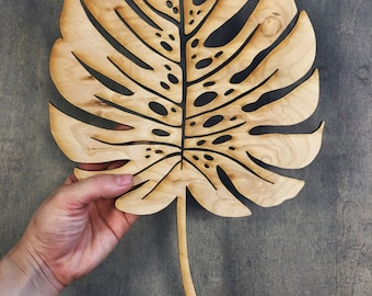 Laser Cut Monstera Graphic - Hawaii Calligraphy