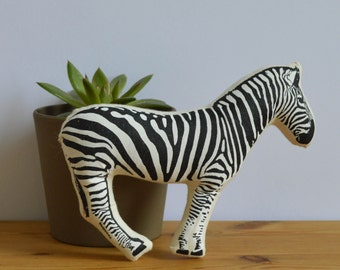 Silkscreen Zebra Toy
