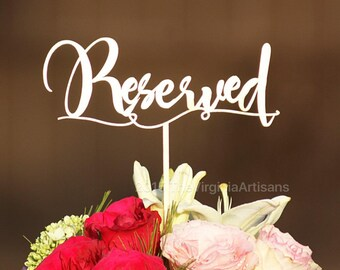 12-Reserved Wedding Table Signs - Total of 12 - Gold - Silver - DIY - Garden Line