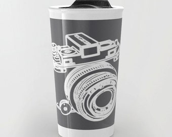 Camera Travel Mug - Coffee Mug - SLR Camera Travel Mug - Aldari Home