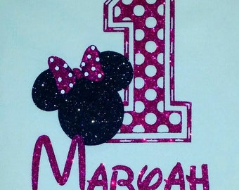 Mouse Polka Dot Birthday Shirt