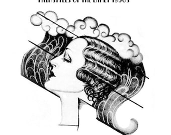The Hair and Head- Hairstyles of the Early 1930s PDF Hairstyling E-Book Download