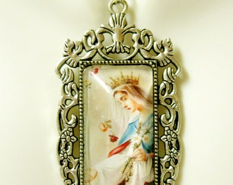 Miraculous medal pendant with chain - AP12-327