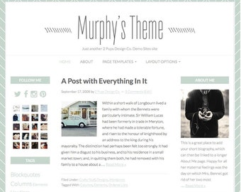 Wordpress Blog Design, Genesis Child Theme, Mint Green Website Design, Wordpress Template, Wordpress Theme, Website Theme