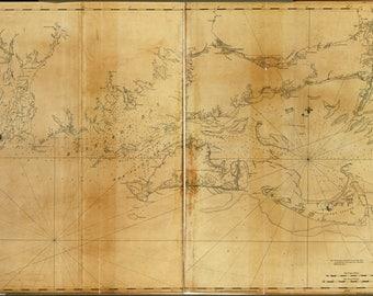 Poster, Many Sizes Available; Map Marthas Vineyard Nantucket Massachusetts 1779