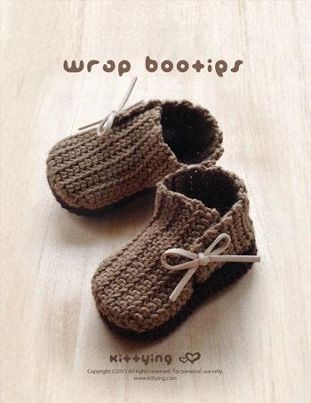 Patrón Crochet abrigo del bebé Botines Botas recién nacido