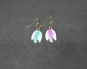 Metal Feathered Earrings