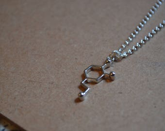 Dopamine Molecule Necklace - Personalisation Available