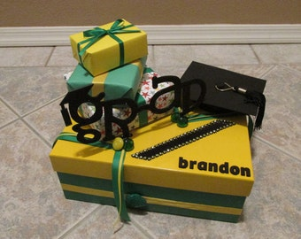 Graduation/Party Card Box with Word Grad & Grad's Name