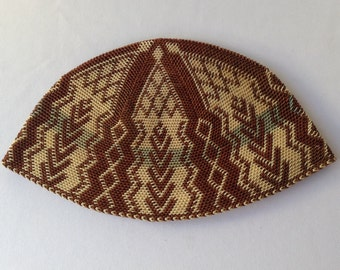 Yarmulke Kippah Masterfully Woven Artisan Crafted REDUCED