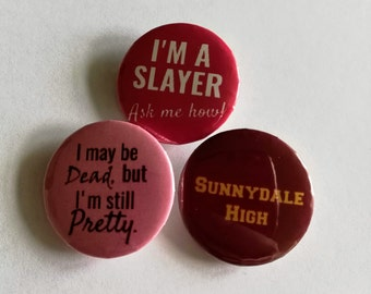 Buffy the Vampire Slayer Buttons