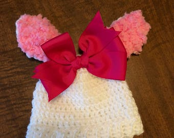 Crocheted Bunny Hat