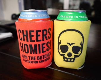 Cheers Homies and Drink 'Til I Drop Can Cooler Combo