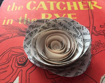 50-Catcher in the Rye Book Page Roses