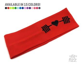 Fitness Headband | Workout Headband | Wide Headband | Red Fabric Headband | Headband for Women | Mom Strong | She is Clothed In Strength