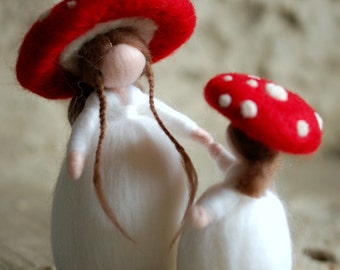 Mushrooms, wool Wladorf tale, inspiration