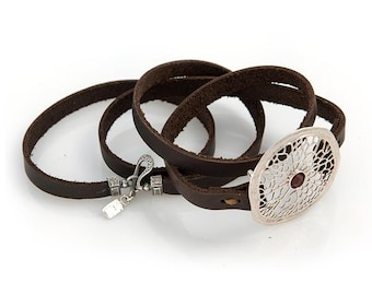 Leather Wrap Around Bracelet