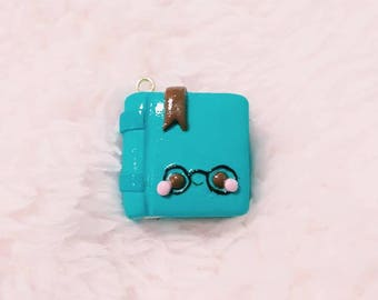 Book Charm, Planner Charm, Book Worm, Book Lover, Polymer Clay Charms, Kawaii Charms