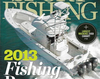 Sport Fishing Magazine Jan 2013 Back Issue Great for Crafting Cardmaking Scrapbooking