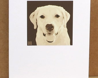 Yellow Labrador Greeting Card Art Print