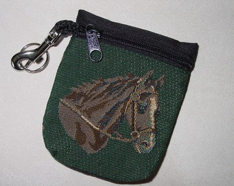 Horses Head Tapestry  Belt Pack/Key Chain Combo