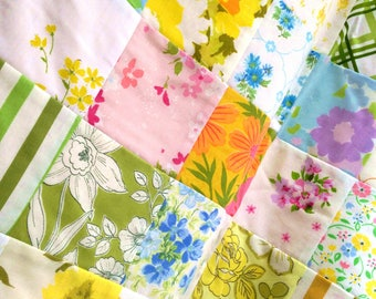 Patchwork Quilt Heirloom Blanket vintage floral Baby child