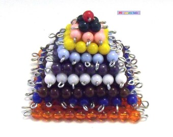 Pyramid beads Montessori