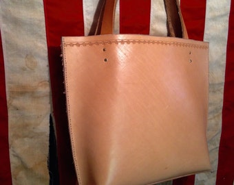 Stamped Leather Tote Bag