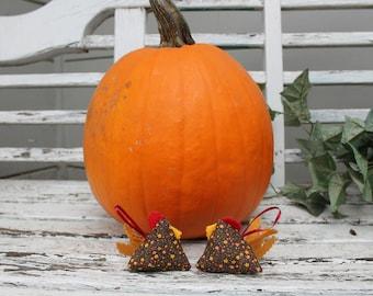 Zen Chicken Ornaments - Happy Chickens