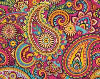 Pink Paisley PDF Cross Stitch Pattern