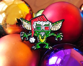 Christmas Gremlins Enamel Pin