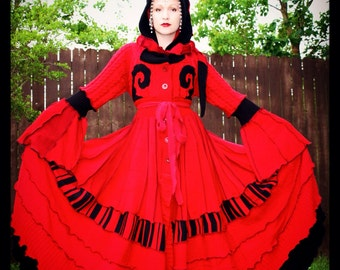 Upcycled Sweater Coat with a Medieval Liripipe Hood by SnugglePants- Mephisto- Extra Long- CUSTOM