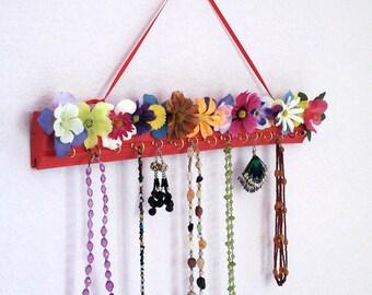 Necklace & Earring Hanger - Flower Garden