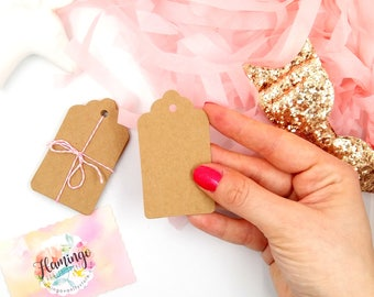 Set of 10 Kraft Paper Tags | Favor Hang Tags | Gift Tags | Die Cut | Favor Tags Wedding Favors | DIY Wedding | Party Supplies Bridal Shower