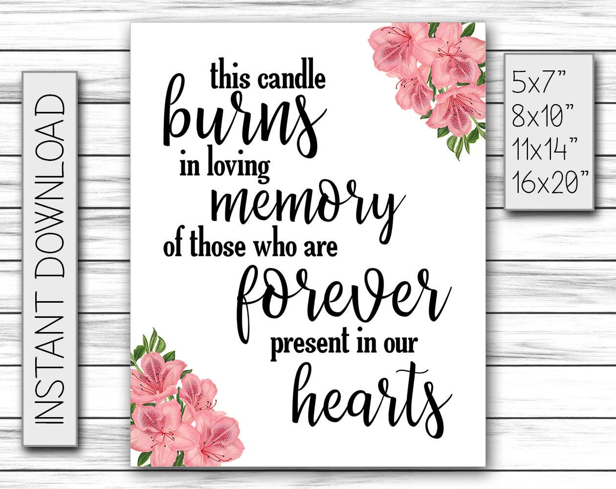 It's just a picture of Monster This Candle Burns in Loving Memory Free Printable