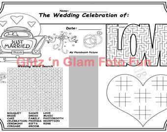Photo Booth Wedding Activity Sheet