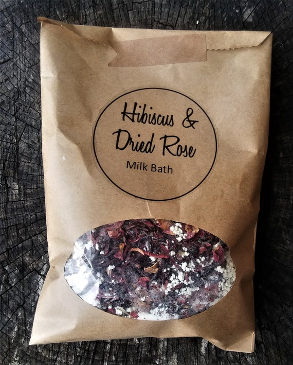 Organic Hibiscus and Dried Rose Milk Bath