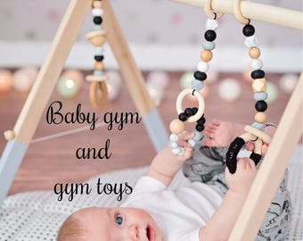 Baby Gym | Baby Gym Toys | Baby Gym Set | Wooden Baby Gym | Baby Play Gym | Baby Gift | Baby Shower | Nursery Decor | New Mom Gift