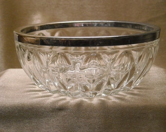Silver Rimmed Lead Crystal bowl