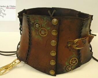 Steampunk belt corset