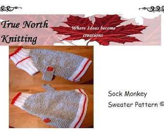Sock Monkey Dog Sweater Pattern