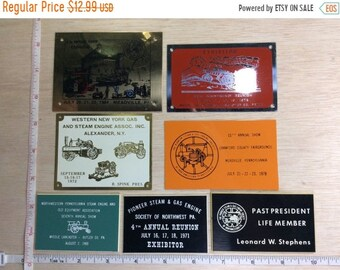 10%OFF3DAYSALE Vintage Lot Of Pioneer Steam Engine Society NW Pa Plaques Used