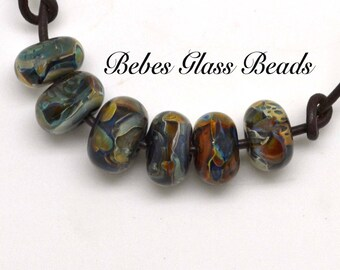 Lampwork Boro Beads Set of 6 Handmade Boro Borosilicate Glass Beads Bebes Glass Beads -  Gatherings