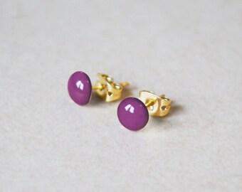 14K Gold Filled Enamel Stud Earrings